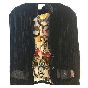 Chic black velvet jacket